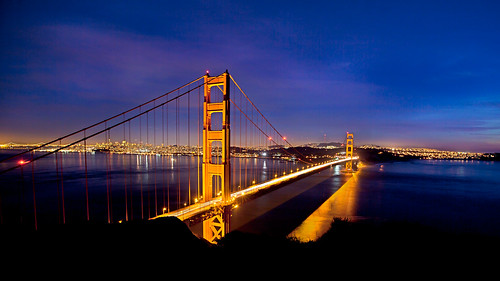 My Birthday Night view of Golden Gate Bridge, San Francisco
