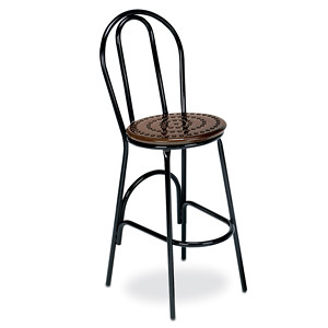 D1156 - Bar Height Bistro Stool with Perforated Seats
