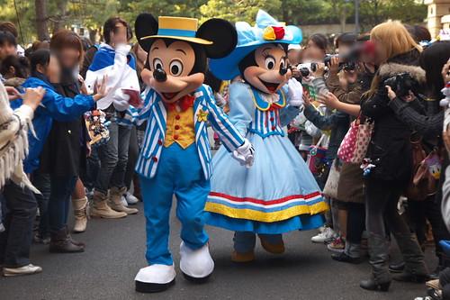 アメリカンウォーターフロントのミッキーとミニー