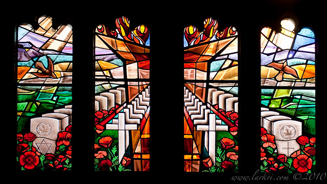 Stained Glass, Soldiers' Tower, University of Toronto, Rememberance Day, 2010