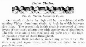 1896 Victor bicycle chain