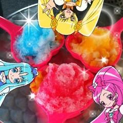 プリキュアカラーかき氷