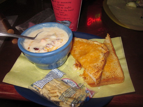 Potato Chowder and amazing Cheese Toast in Vernonia