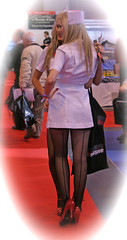 Car Show Girls (Lazenby43) Tags: girls glamour uniform models heels nurse nec promotions seams