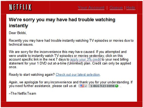 Just one more reason Netflix is successful - Its the thought that counts