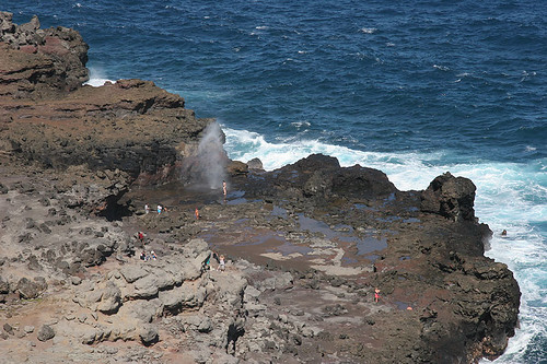 Blowhole at Nakalele Point - Maui