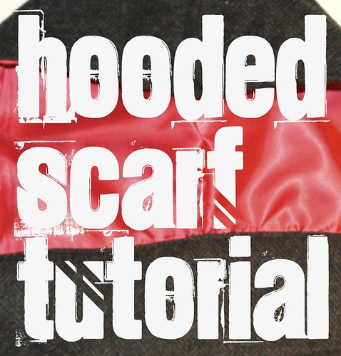 hooded scarf tutorial