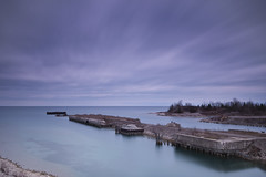 Rockport (IreJustin) Tags: bw lake color water 30 mi nikon michigan great hard lakes sigma 1020mm grad huron rockport cokin f456 nd8 nd110 d5000