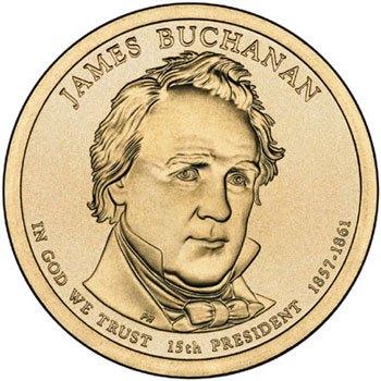 Prezidentský 1 dolár USA 2010, 14. prezident James Buchanan