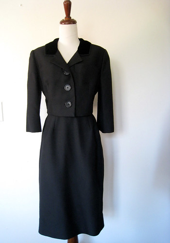 Perfect Little Black Dress Suit, Vintage 50's