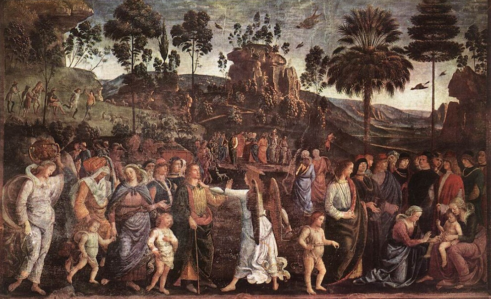 Sistine Chapel Southern Wall - Moses Journey through Egypt