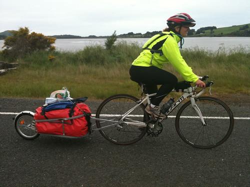 女自転車一人旅中のアマンダちゃん