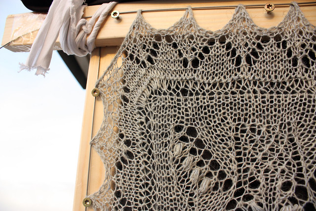 Estonian Shawl -  Corner detail