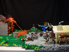The Village Attack (Stormbringer.) Tags: landscape dragon lego raid viking berk moc howtotrainyourdragon villageattack