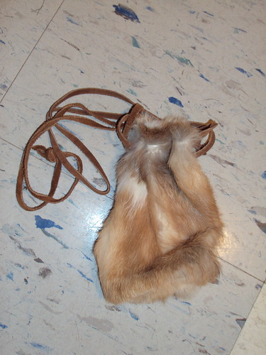 Rabbit Fur Sack