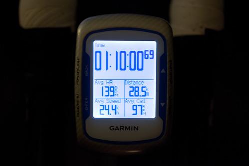夜ローラー70min ave24.4 インナー5 28.5km
