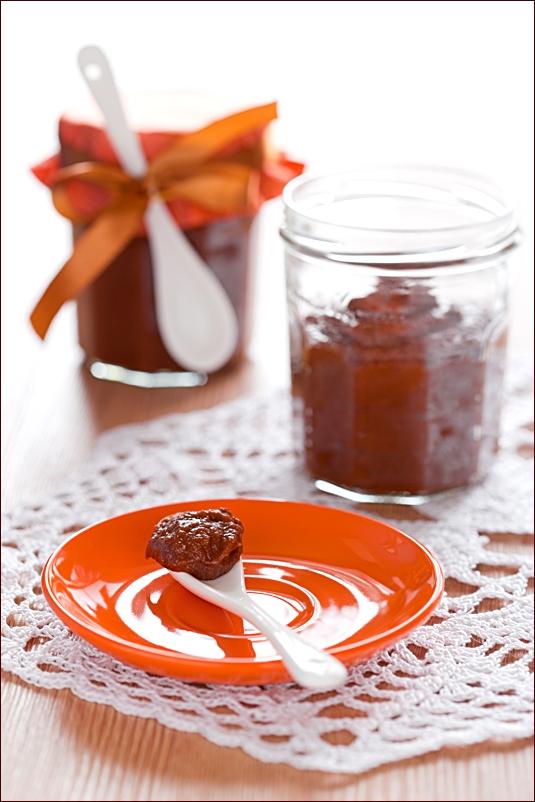 Persimmon and chocolate jam