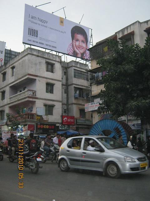 Sobha Ivory, 3 BHK Flats at NIBM-Kondhwa, Pune - hoarding of sobha Ivory on Kondhwa Katraj Road