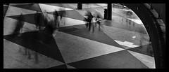 Rushing ghosts ( Marlene ) Tags: life longexposure people blackandwhite bw blur monochrome triangles underground blackwhite blurry nikon long exposure stockholm squares tubes silhouettes streetscene busy sergelstorg rush gata ghosts rushhour stress vague torg chasing rushing plattan hectic stressing triangel d5000 rusningstrafik rusningstid hecticlife