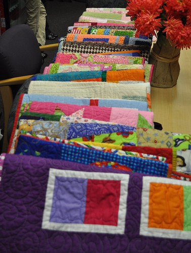 NICU quilts all laid out