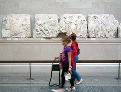 Parthenon, South Frieze, Slabs 43, 44, 45 with KIds