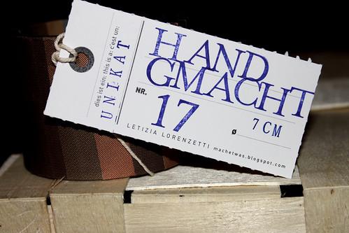 Handgmacht - Armreif-Etikette Nr. 17
