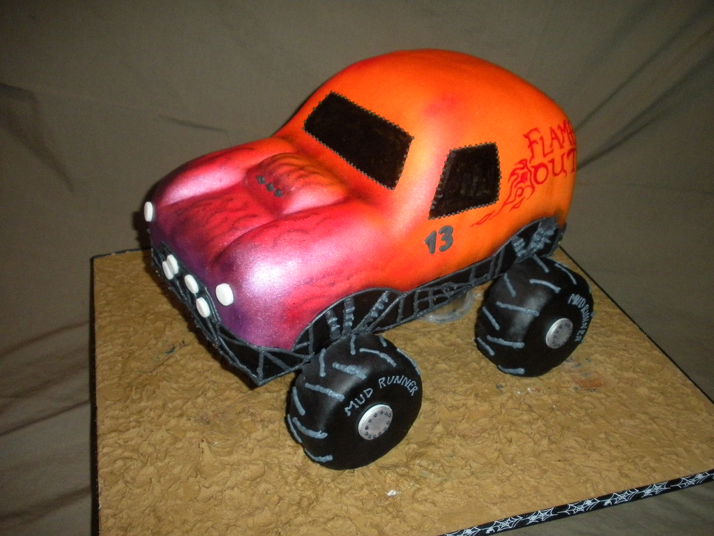 3-D Monster Truck cake by Wolfbay Café