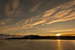 Criffel Sunset (Donsfan) Tags: sunset mountain seascape clouds sunrise river criffel dumfries nith