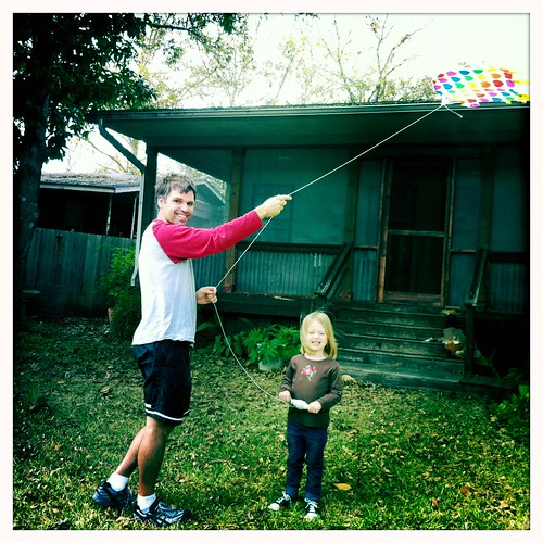 Kite flying with Dad