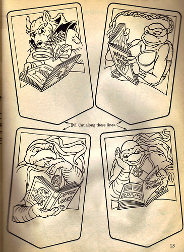 "RANDOM HOUSE :: ""Ninja Turtles: The Next Mutation"" COLORING & ACTIVITY BOOK .. pg.13 (( 1998 ))"