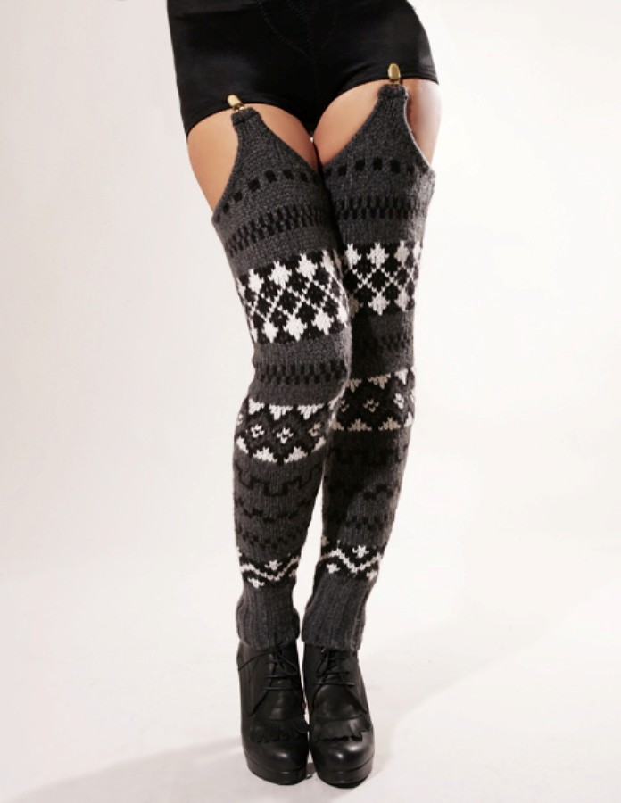 Spring and Clifton thigh high leg warmers 2