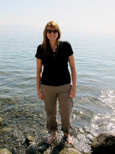 Standing in the sea of Galilee