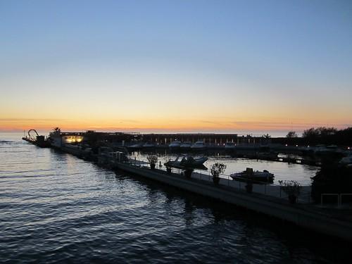 Sunset over the Ligurian Sea