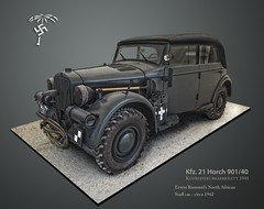 Rommel's Horch ((The) Appleman) Tags: africa desert military wwii german corps fox ww2 vehicle afrika command rommel korps horch fotocreations megashorts novaman396