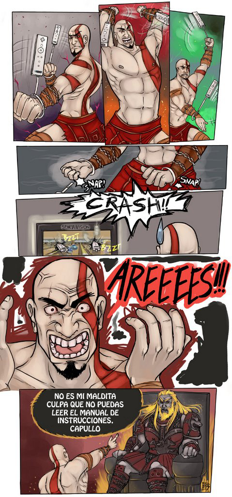 God of War Wii viñeta