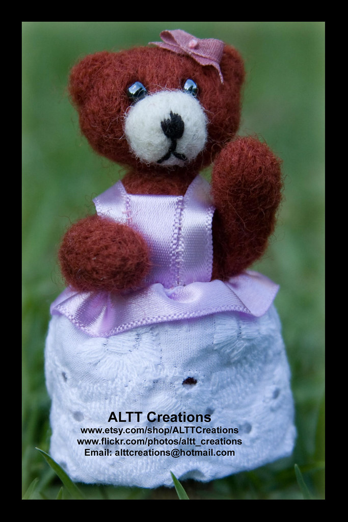 Felt Finger Puppet - Bella Bear
