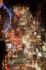 Edinburgh City Skyline Long Exposure (Andy Tye) Tags: winter light cars architecture night buildings dark lights scotland edinburgh edinburghcastle princesstreet nightshoot lighttrails caltonhill illuminate 70300 d700