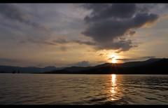 Sham bhi koi jaise hai nadi... (D a r s h i) Tags: sunset lake water clouds river satara koyna tapola