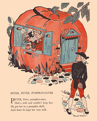 Peter Pumpkin-Eater (katinthecupboard) Tags: autumn pumpkin poems nurseryrhyme vintagechildrensbooks childrens vintage illustrations vintagechildrenspoetry billieparks parksbillie peterpumkineater