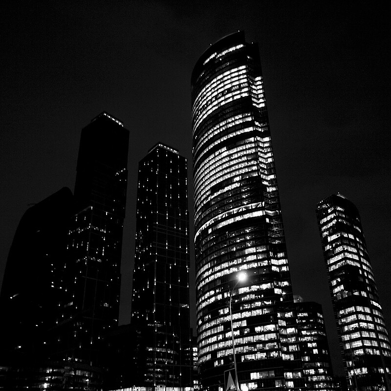 Day 277, Moscow-City at night