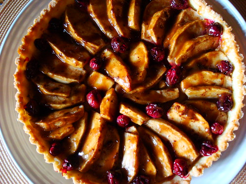 Caramel Apple Cranberry Crostata
