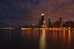 The City By The Lake (Seth Oliver Photographic Art) Tags: nightphotography chicago reflections illinois nikon midwest skyscrapers cityscapes lakemichigan navypier nightshots beautifulclouds pinoy johnhancockbuilding nightscapes chicagoskyline urbanscapes drakehotel northavenuebeach longexposures goldcoastneighborhood d90 nightexposures 10secondexposure bigcities wetreflections sooc moderncities autumnclouds setholiver1 aperturef220 18105mmnikkorlens circularpolarizers tripodmountedshot remotetriggeredshot shutterspeedprioritymode