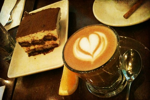 "Oriole Cafe & Bar, the ""sarang"" orange-award-winning coffee and the really yummy tiramisu"