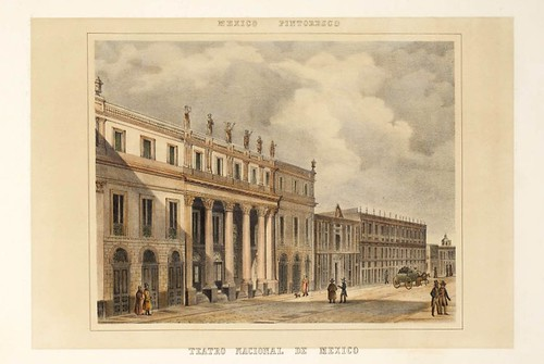 020-Teatro nacional de Mexico- Album Pintoresco de la Republica Mexicana 1850