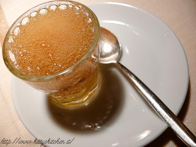 Sorbetto al mandarino con gel di Chinotto