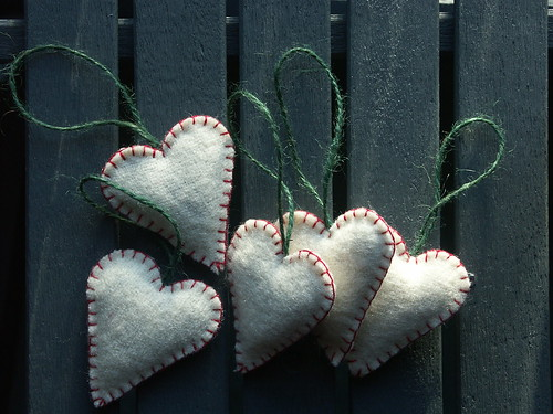Blanket hearts (red & green)