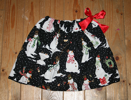 "snowmen children""s skirt"