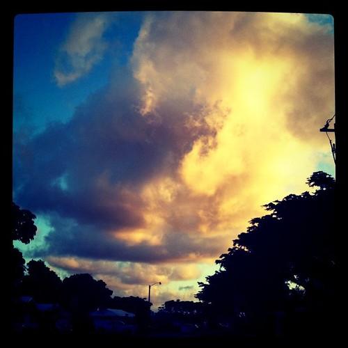 Craaaaazy clouds on my street!