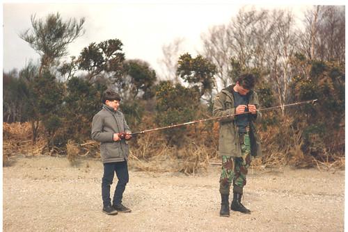 Tony Nicoletti and George Watson Fishing 1980s