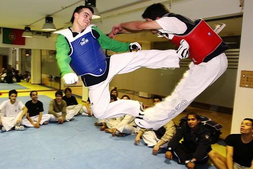 Pedro Póvoa - atleta do SC Braga - taekwondo ©José Ricardo Estudante